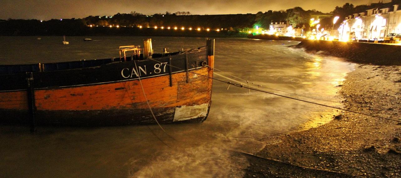 Nachtstimmung in Cancale