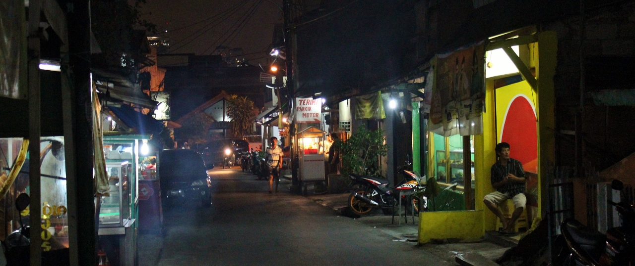 Jakarta Kuningan nachts