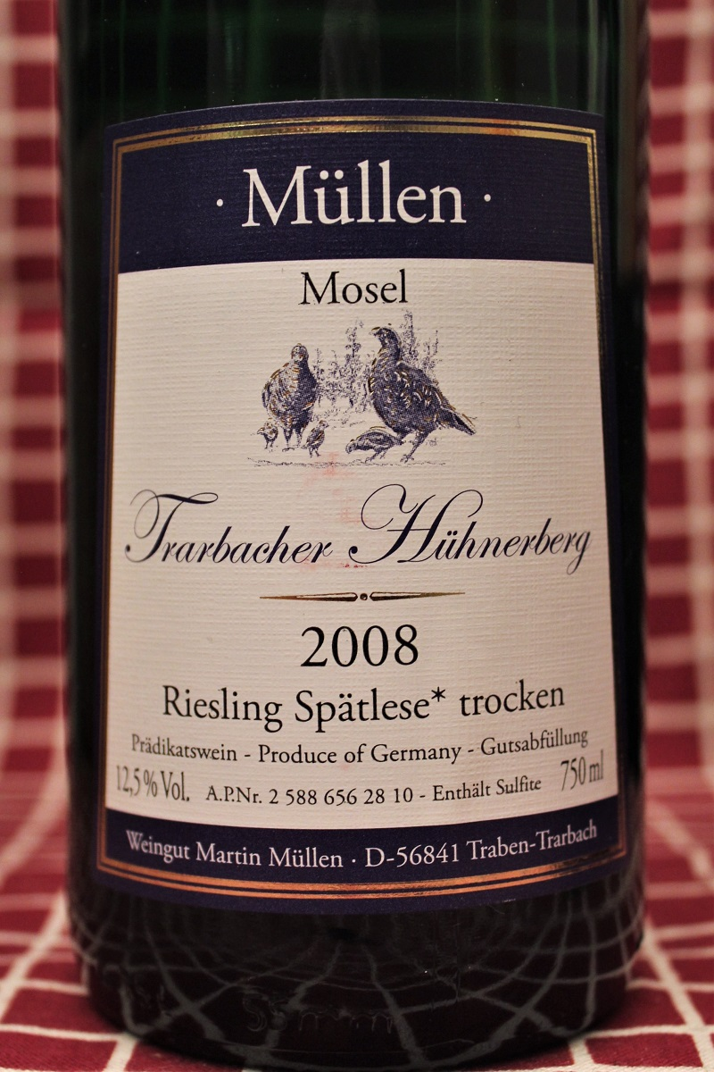 Müllen Riesling Trarbacher Hühnerberg 2008 Mosel