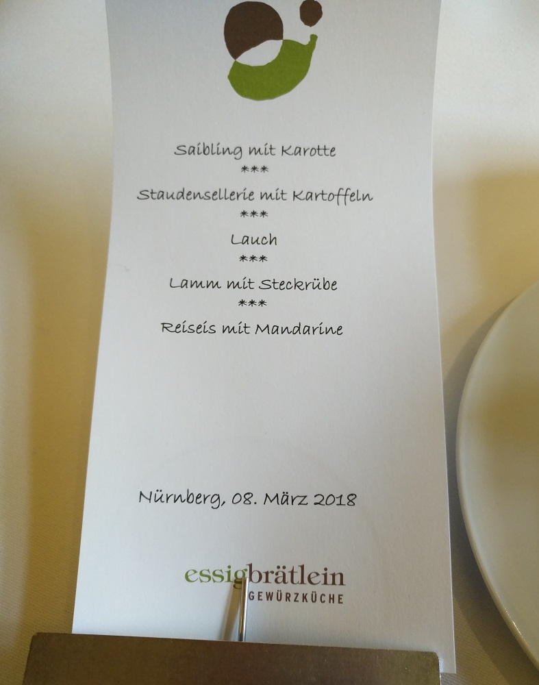 Restaurant Essigbrätlein Nürnberg