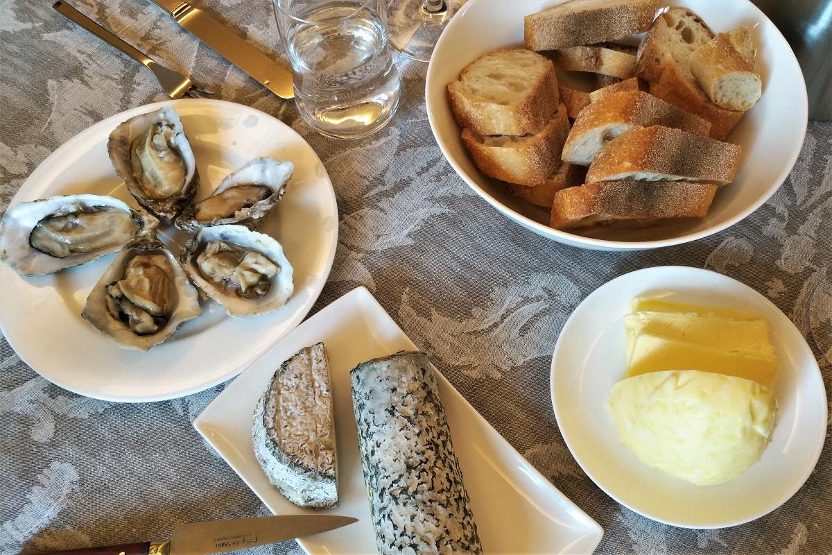 Loire Wein Käse Austern