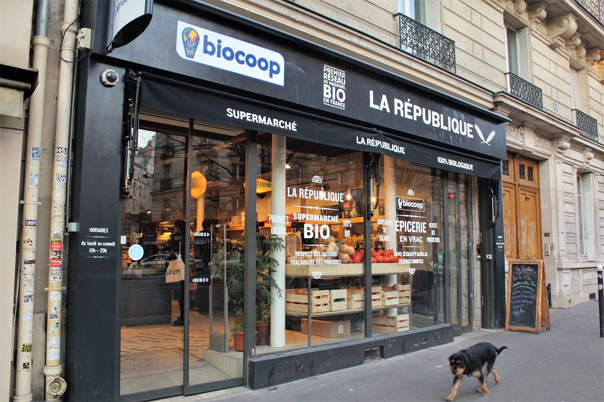 Bio-Supermarkt Frankreich