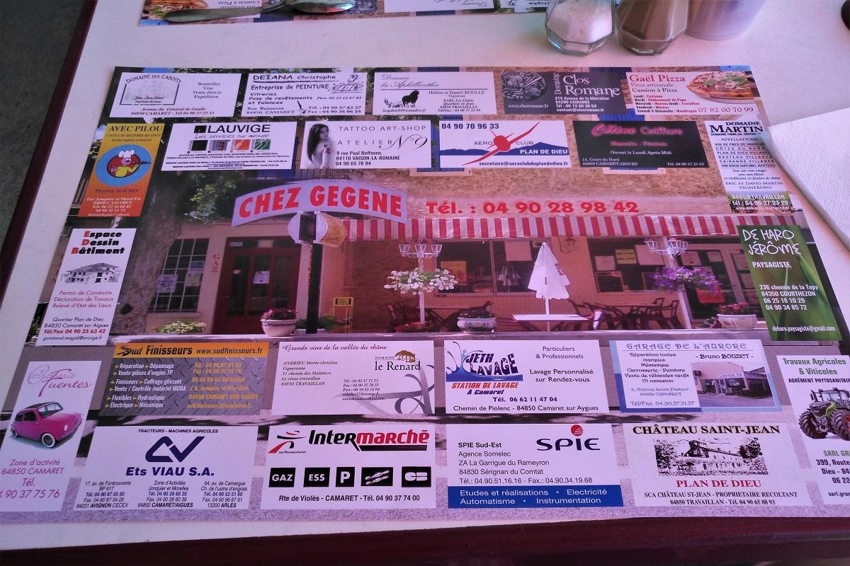 Provence Restaurant Chez Gégène