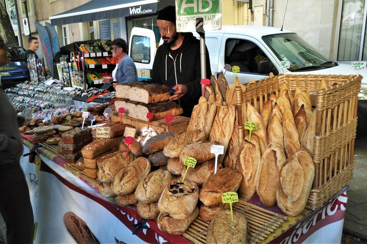 Bio Frankreich Markt Brot