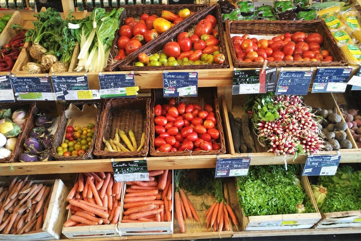 Bio-Supermarkt Frankreich Gemüse