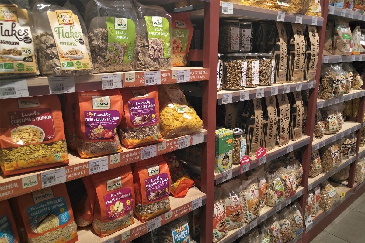 Bio-Supermarkt Frankreich Cornflakes