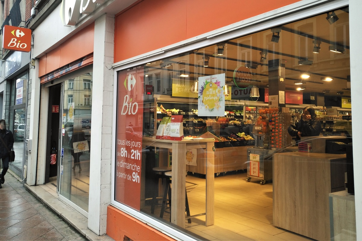 Bio-Supermarkt Frankreich Carrefour Bio