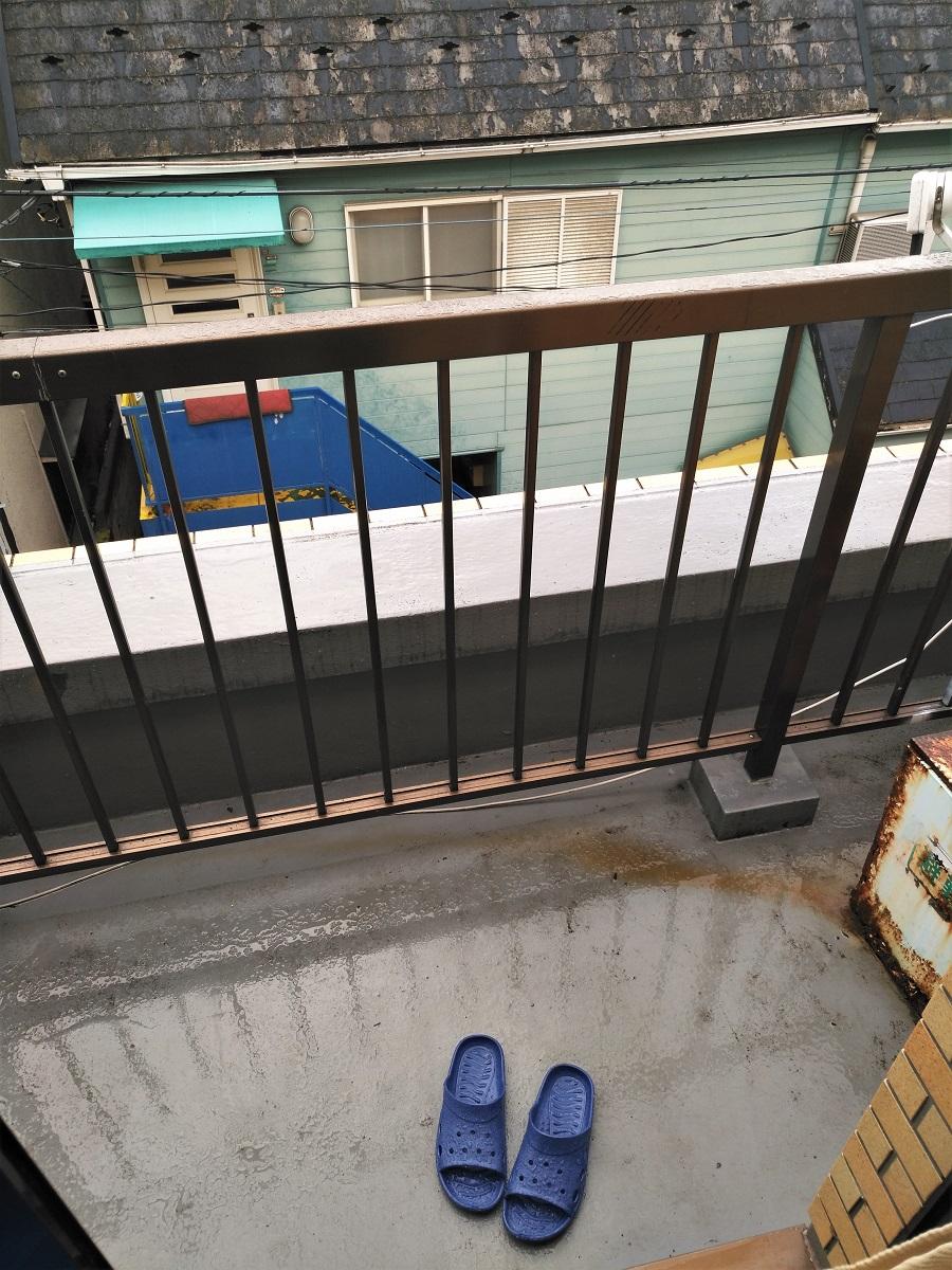 Sonntag Regen Tokio balkon