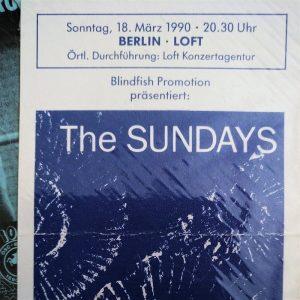 Jahresrückblick Konzertkarte Sundays