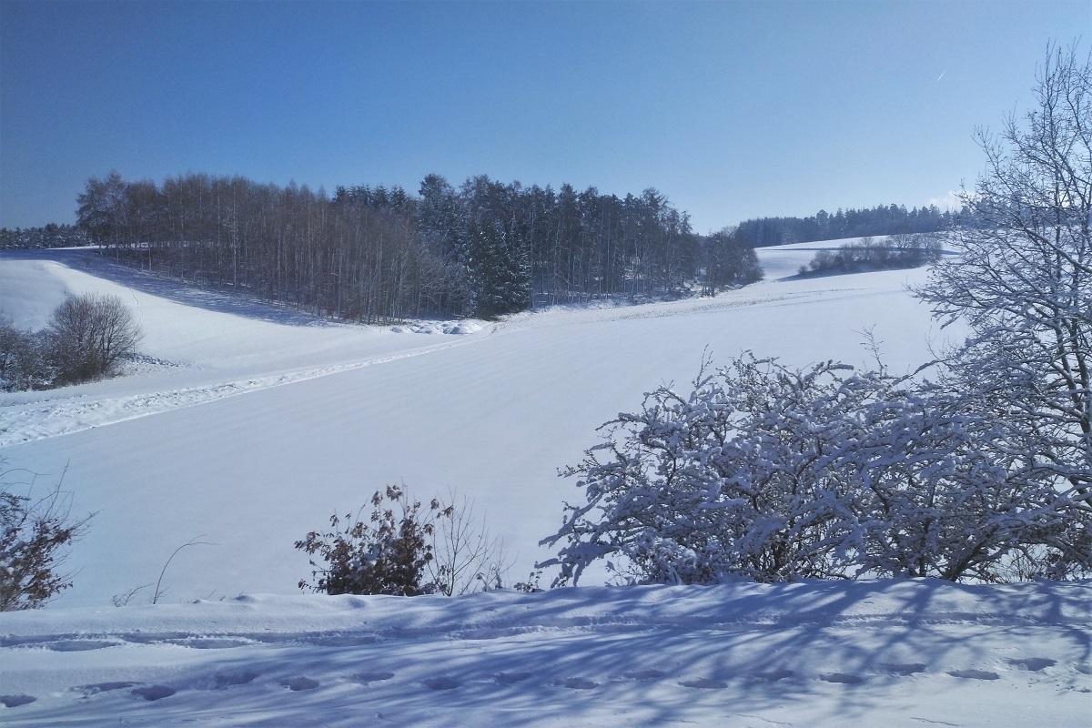 Februar Bayern Schnee