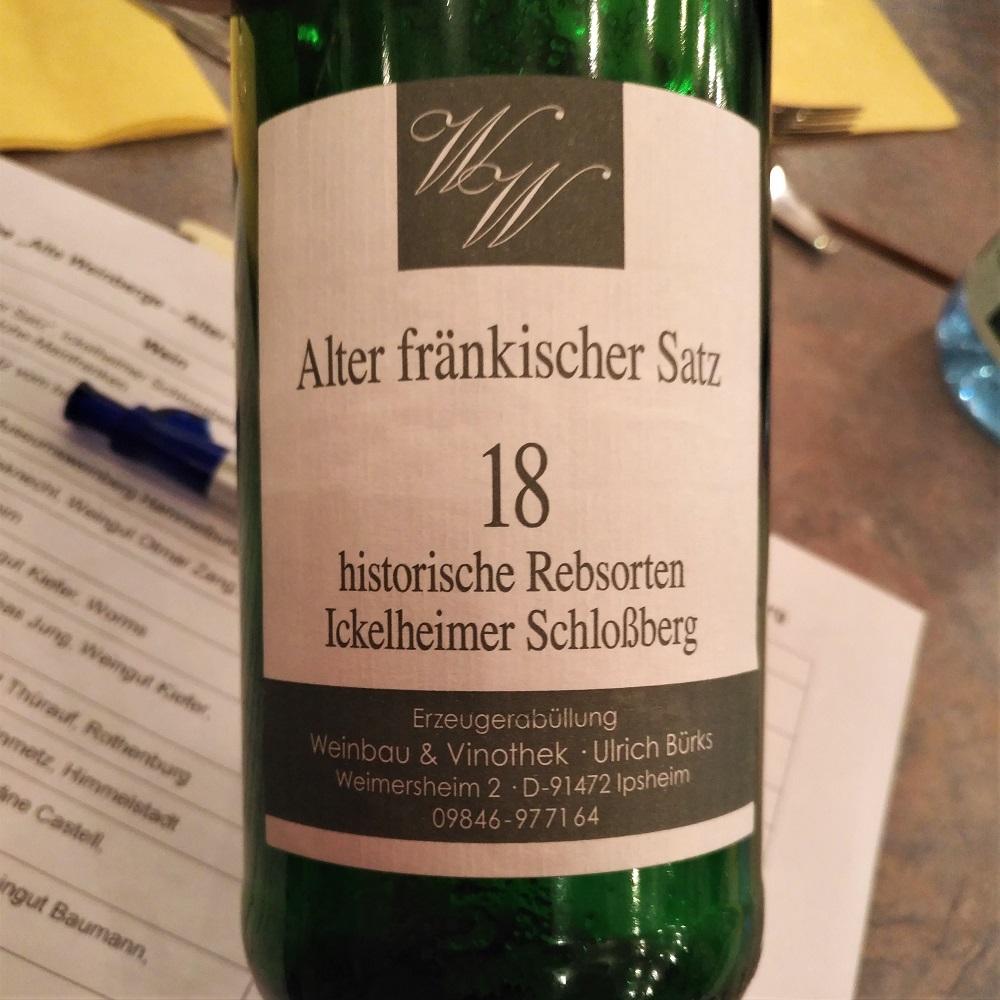 Alter Satz Franken Ickelheimer Schlossberg