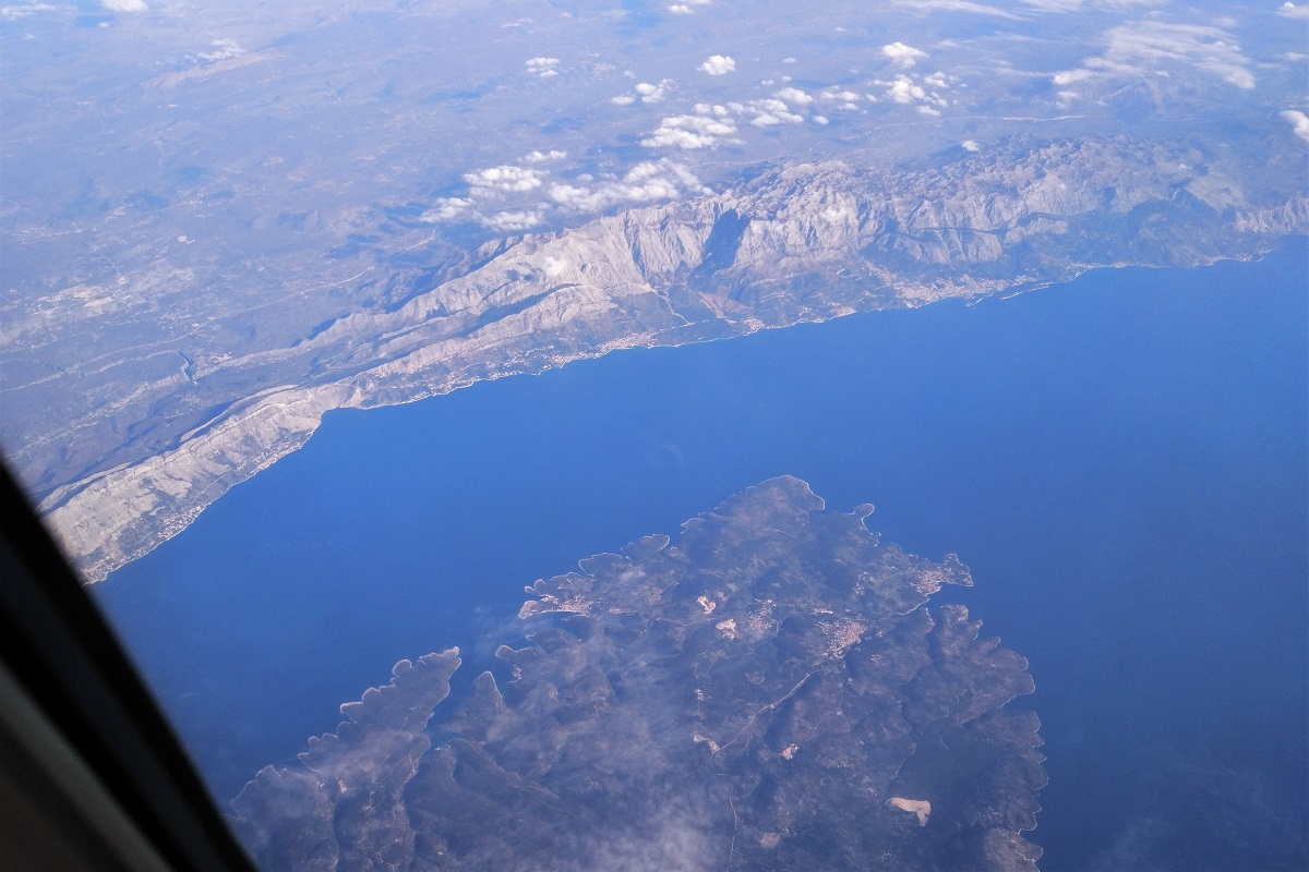 Erde Flugzeug Luftbild Adria
