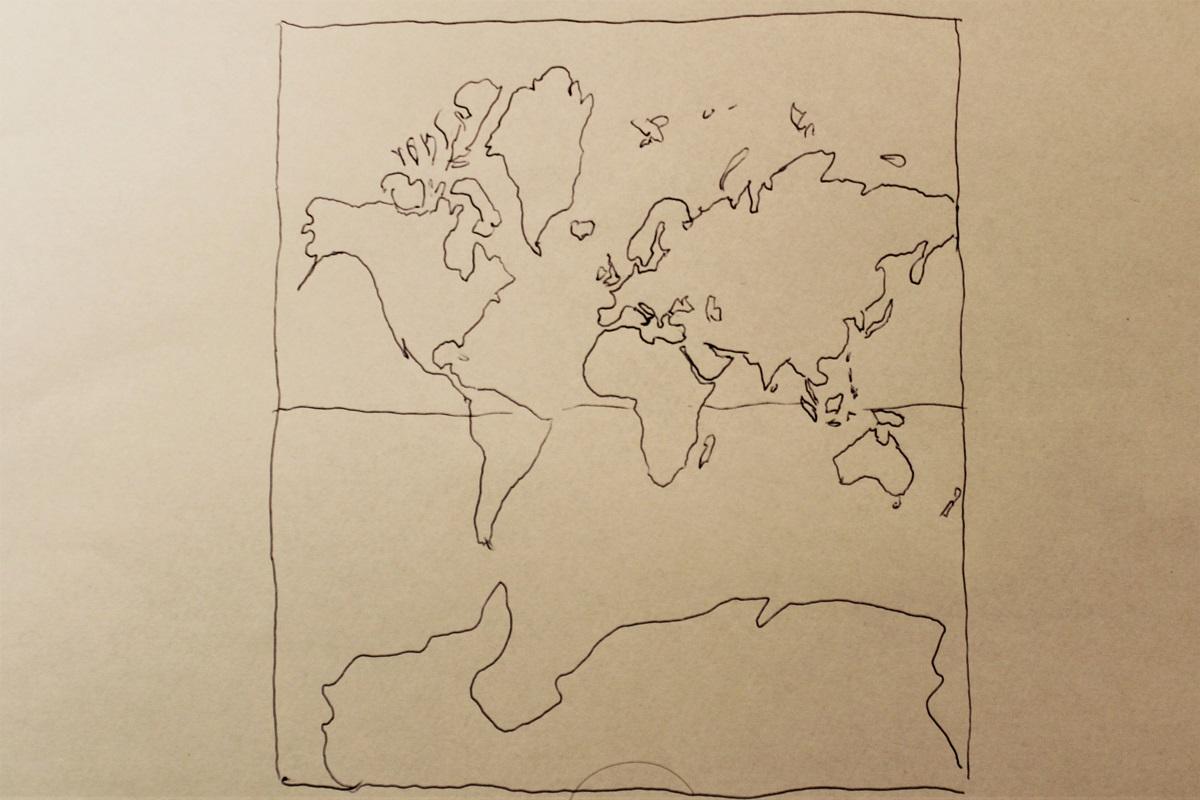 Karte Weltkarte Mercator Winkel