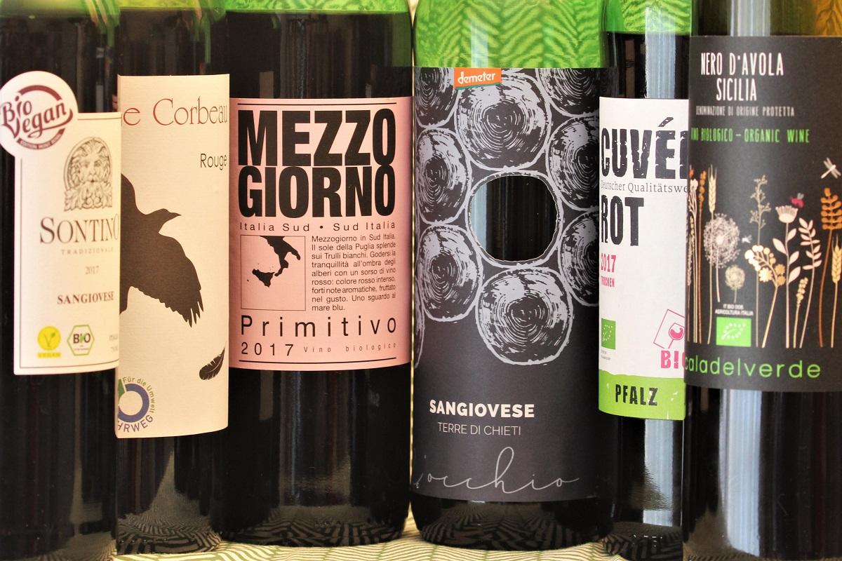 Bio-Wein Supermarkt Lidl Aldi