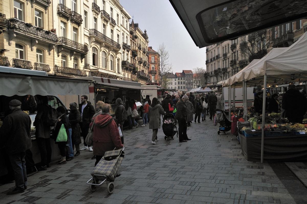 Brüssel Markt Parvis St-Gilles