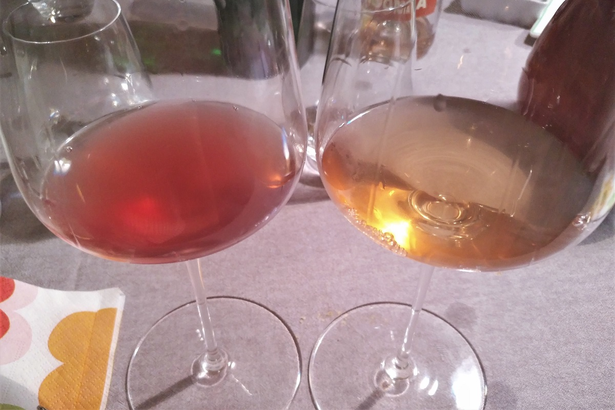 Rosé Wein Farbe