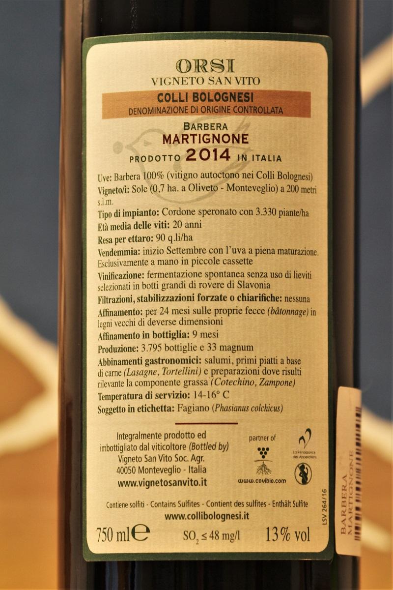 Orsi Martignone Barbera