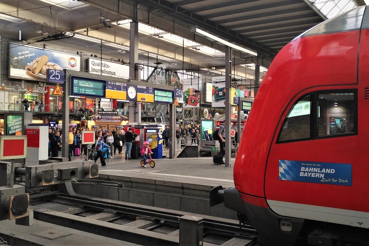 München Hauptbahnhof Regionalzug