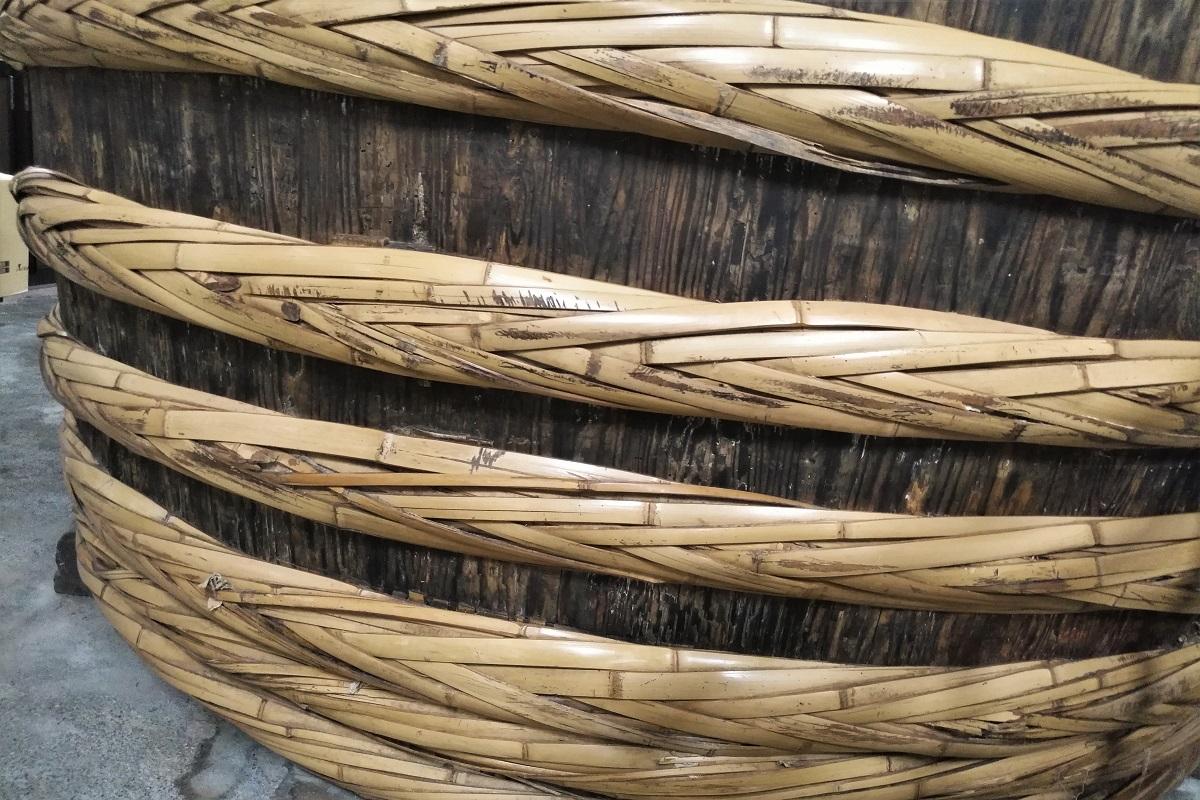 Holzfass Bambusring Miso Onozaki