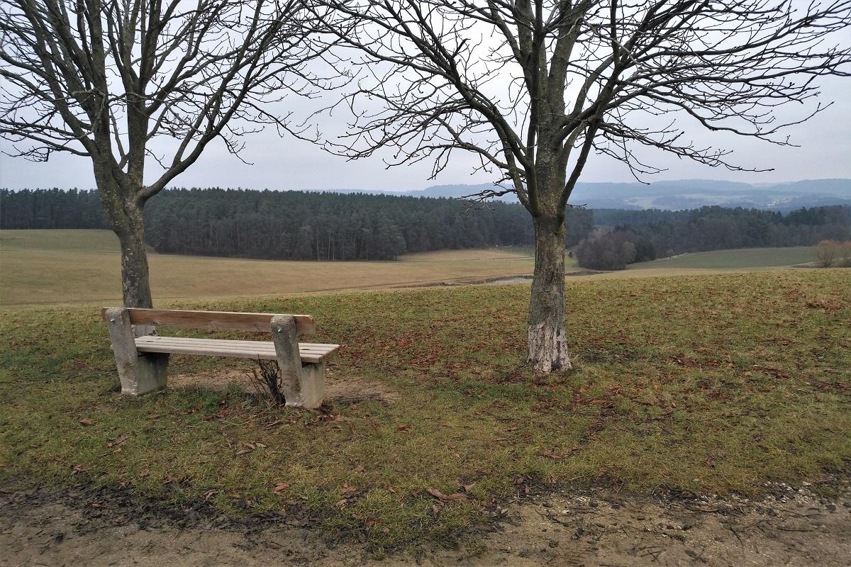 Franken Winter Karpfen Landschaft