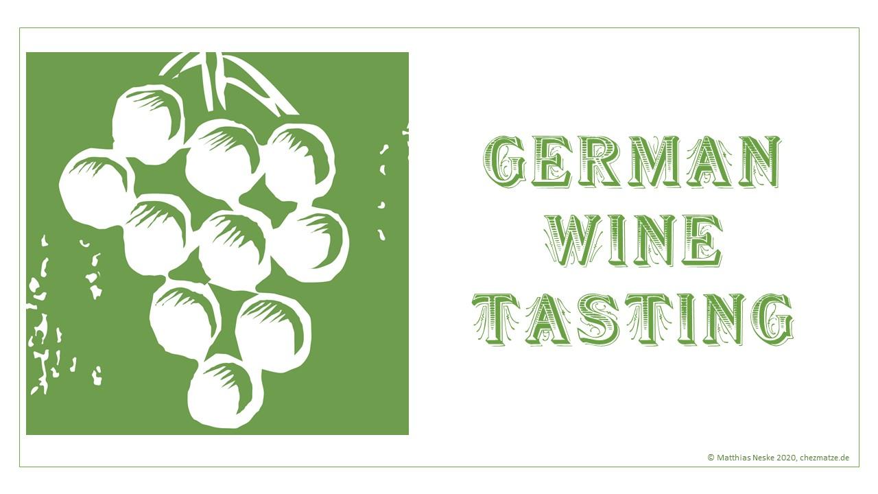 German Wine Tasting