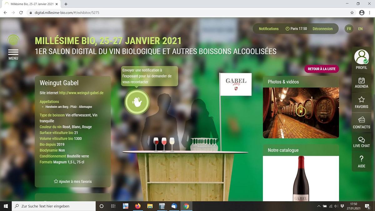 Gabel Weinmesse Millésime digital 2021