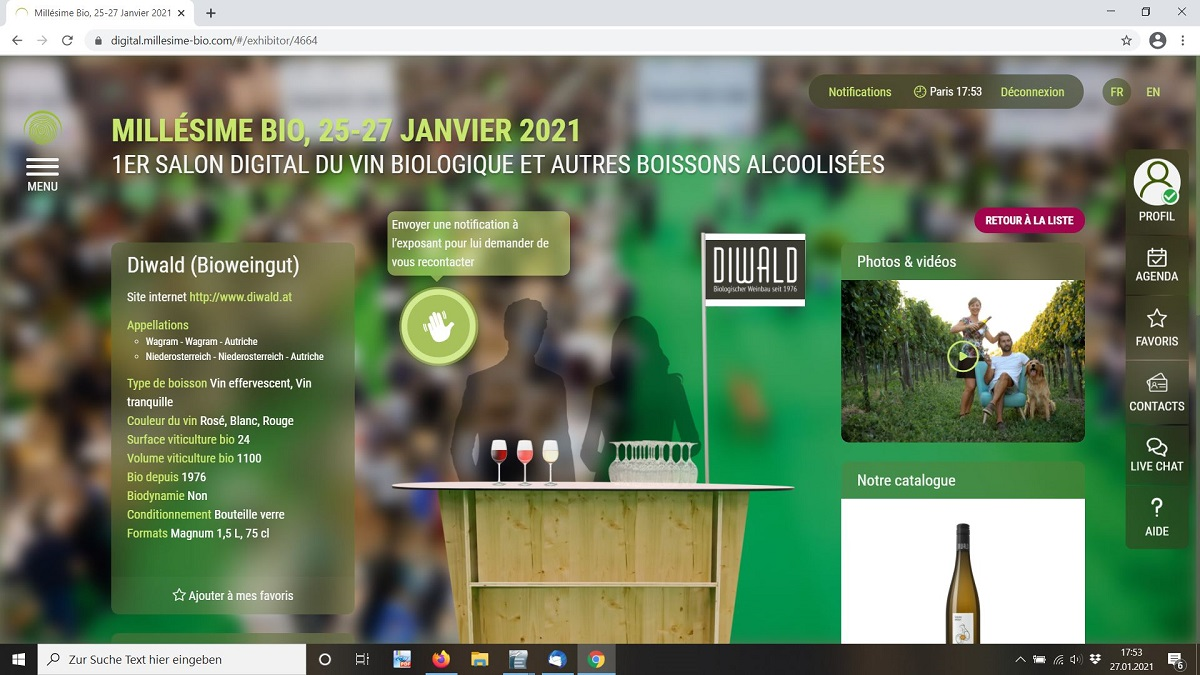 Diwald Weinmesse Millésime digital 2021