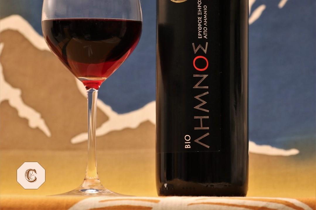 Bio Limnos Rotwein Griechenland