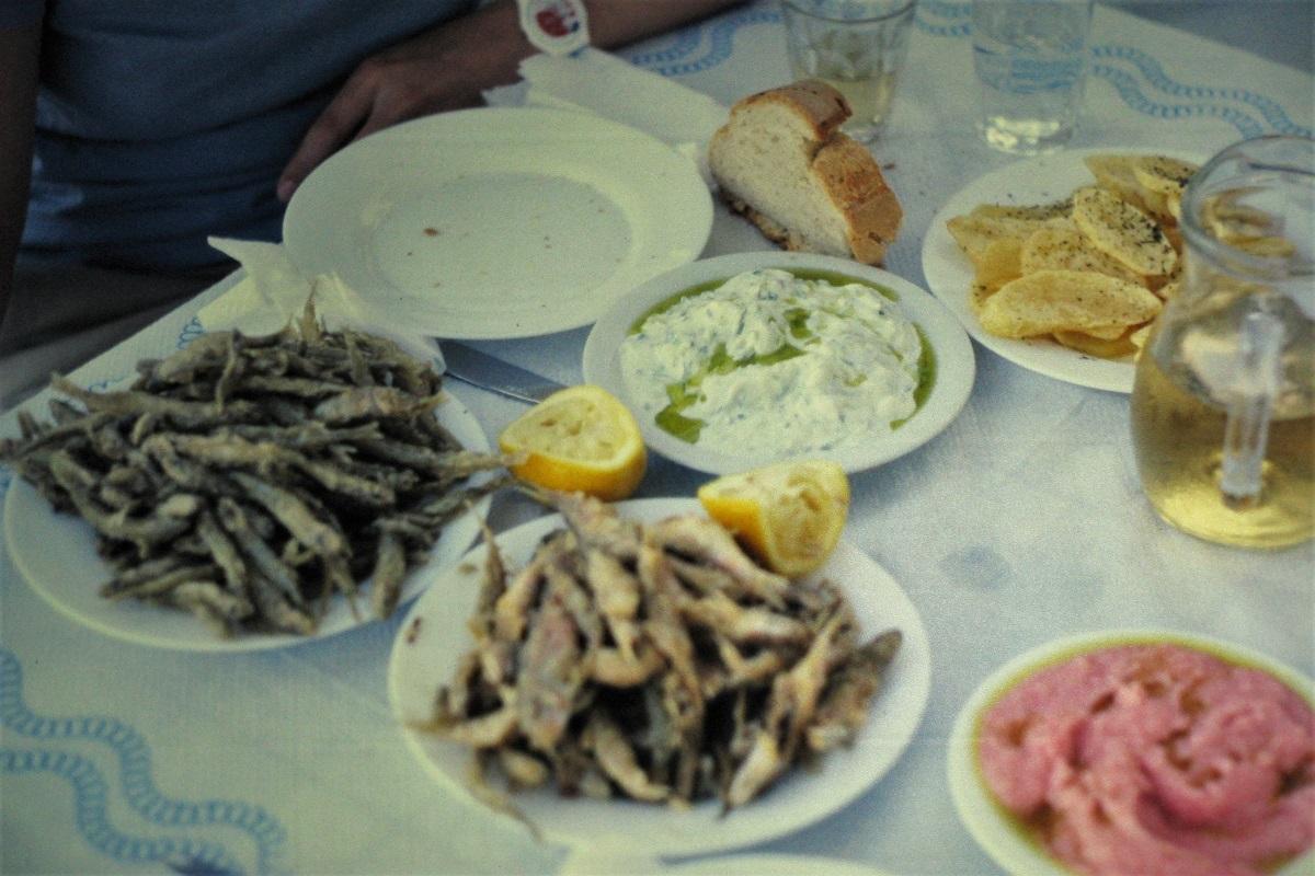 Frittierte Fische Griechenland