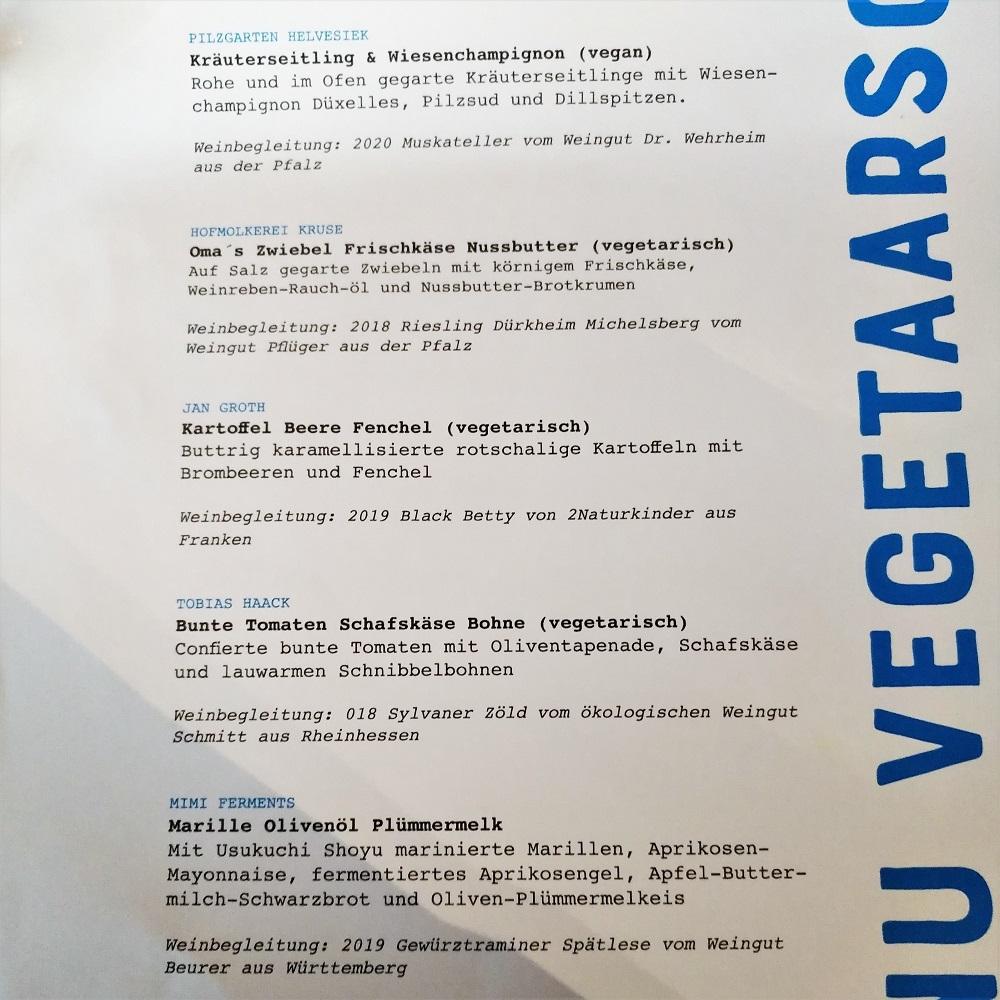 Hobenköök Hamburg vegetarisches Menü